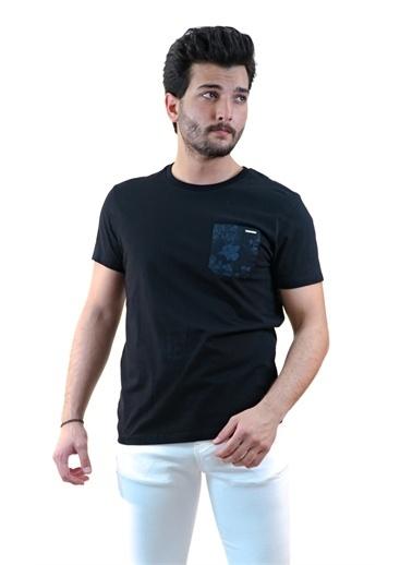 Boris Becker Cep Detaylı T-shirt Siyah